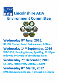 Lincolnshire ADA Environment Committee Meetings 2016-17