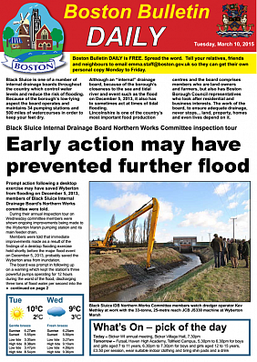 Boston Bulletin Daily 10th March 2015