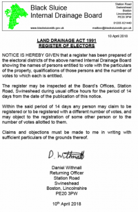 Register of Electors Notice