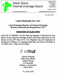 Electoral Register Approved