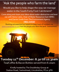 Managing Water in the South Forty Foot Catchment Event