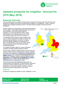 Environment Agency - Updated Prospects for Irrigation